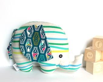 Baby Toy, Plush Elephant, Elephant Softie, Elephant Stuffie, Baby Boy Gift