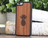 Wood iPhone 6 Case, Pineapple Design iPhone 6 Case - SHK-R-I6-PINE