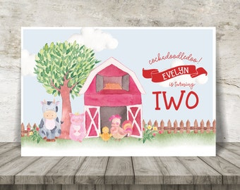 Farm Party Backdrop / Large Poster