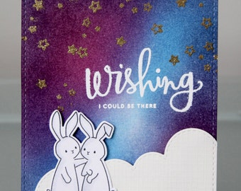 Wishing I Could Be There Bunny card