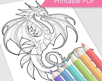 Fire Dragon Coloring Page