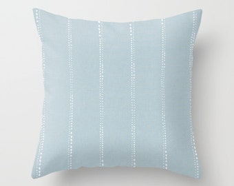 Blue Pillow cover Beachy Pillow Cover Decorative Pillow Cover Couch Pillows Size Choice Accent Pillow