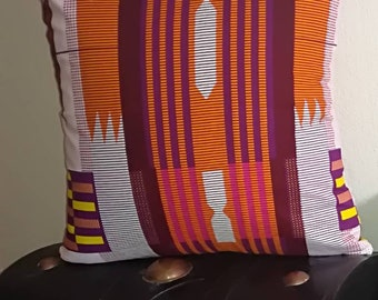 African decorative pillowcase. Hand made pillowcase. African print pillowcase.