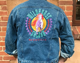 Vintage Wildhorse Saloon Denim Jacket