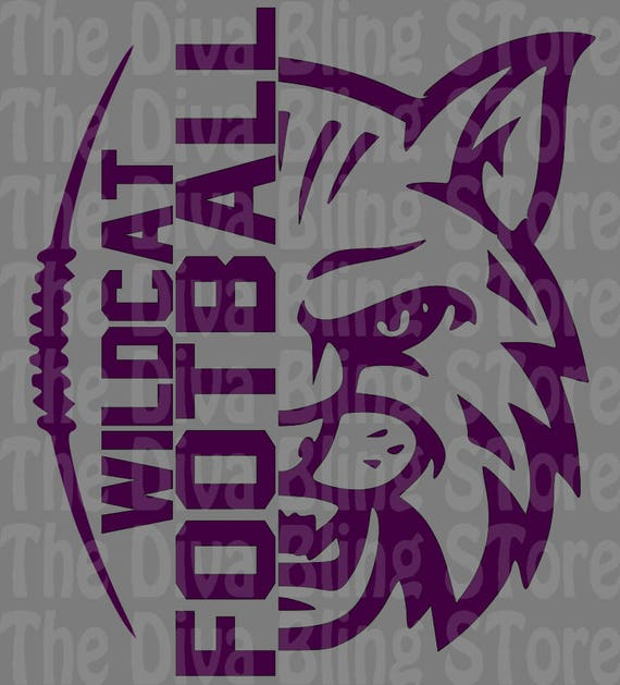Wildcat Football Half Face Svg File