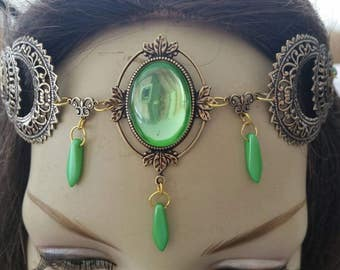 Peridot Circlet of the Spring Moons Arrival celtic priestess elven druid bridal cosplay