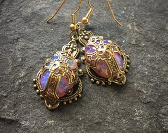 Medieval Cross Earrings, Celtic Earrings, Cross Earrings, Tudor Earrings, Historical Earrings, Renaissance Costume, Celtic Dress, Ren Faire