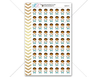 African American nurse/doctor Stickers for planner, calendar! Functional planner stickers medical student sticker hospital sticker#SQ00375