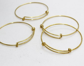3 Pcs Memory Wire Bracelet , Expandable Bangle  , Bangle Bracelet, Adjustable Bracelet Wire , 1,6x60mm , CHK187