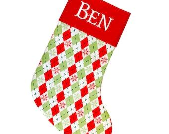 Christmas Sock, Xmas Stocking, Stockings for Him, Personalized Christmas Stocking, Family Stockings, Embroidered