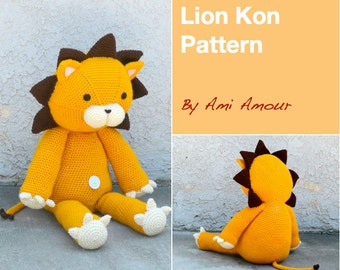 Lion Crochet Pattern Lion Amigurumi Pattern Lion Pattern Kon Pattern Giant Lion