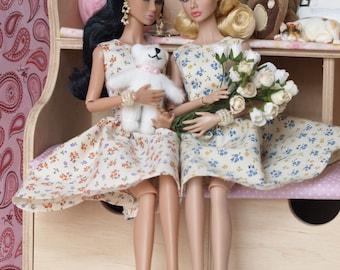 Flowered dress for Poppy Parker, Nu face