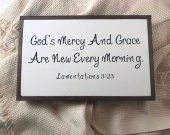 God's Grace and Mercy Are New Every Morning