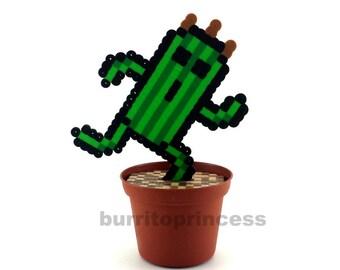 8 Bit Potted Plant - Pixel Potted Plant - 8 Bit  Statue - Artificial Plant Fake Plant - Waterless Plant