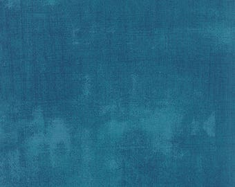 Moda Grunge Basics HORIZON Blue Green Mottled Background Fabric 30150-306 BTY