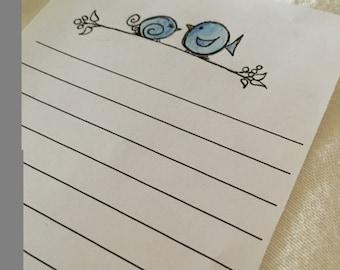 Bluebirds Writing Paper