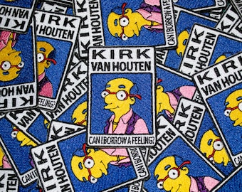 The Simpsons - Can I Borrow a Feeling Kirk Iron-on Patch