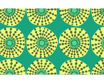 "Amy Butler, Lark, ""Sun Glow"" in Jade, 100% Cotton Fabric"