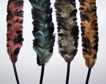 Vintage Millinery French Feather Quill Hat Trim NOS Fancy