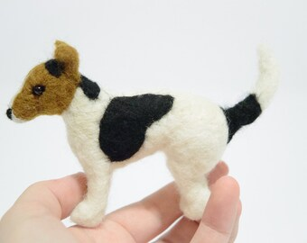 Jack Russell Terrier - Felted Terrier - Needle Felted Dog - Felted Animal - Needle Felted Jack Russell Terrier