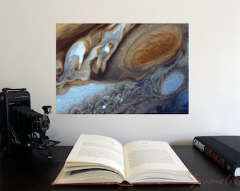 "Jupiter's Great Red Spot 19"" x 13"" Poster - Science Astronomy Wall Art - A Window on the Universe series"