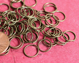 Jump ring antique brass approx. 9mm outer diameter 20g thick, 100 pcs (item ID YWABHS00068)