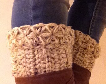 Boot cuffs Leg warmers in oatmeal  or SELECT COLOR boot Socks Boot Toppers leg warmers B1