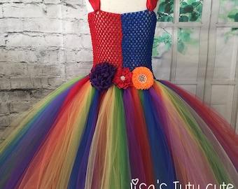 rainbow dress, rainbow tutu, rainbow wedding, rainbow wedding dress, rainbow pageant dress, rainbow flower girl dress, rainbow baby dress