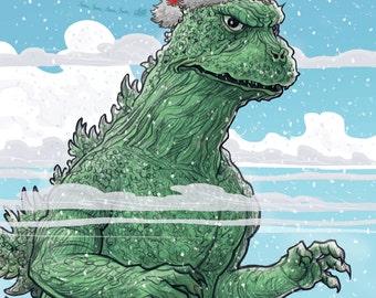 GODZILLA Holiday card
