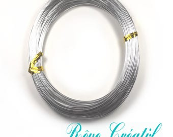 Aluminum Wires, Silver, 1.0mm; about 20m/roll