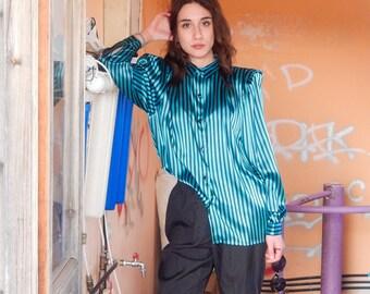 Petrol Blue Stripes Shirt