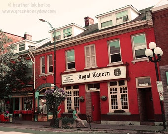 Red Royal Tavern - Wall Decor - Fine Art Photography Print - Kingston, Canada, Red, Historic, Bar