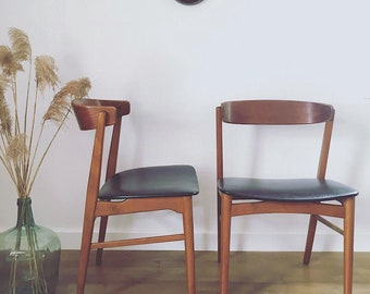 Reserved - Set of 2 Scandinavian teak chairs - model 206 Farstrup