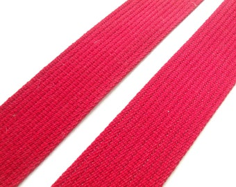 Webbing strap Ribbon red 50mm the meter