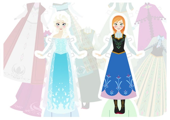 Items Similar To Print At Home Frozen Paper Dolls Luxury