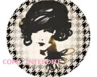 cabochon woman, coconut, 23mm