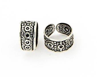 Silver Ear Cuffs,Oxidized Silver Ear Cuffs,Silver Round Ear Cuffs,Celtic Ear Cuffs