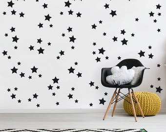 3 sizes Stars Wall Decal, Set of 120, Peel And Stick, Vinyl Decal, Star Decal, Star Wall Sticker, Nursery Decal, Stars, Confetti Star Decals