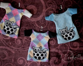 3 styles! Handmade Clothes for Monster Doll — T-shirt with a picture (print)