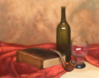 Old Toby - Original Classical Realism Still Life Oil Painting