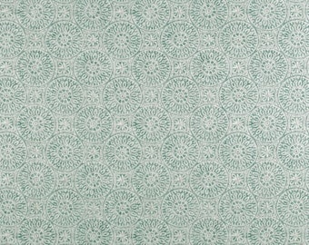 Tibet Spa cotton fabric by the yard medallion ikat Magnolia Home Fashions