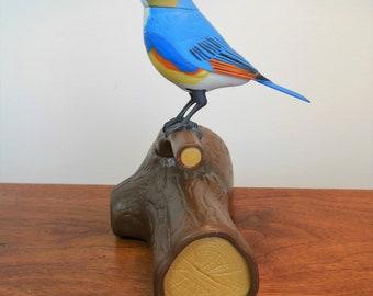 Takara Bluebird on Stump Animated Chirping Breezy Singers Bird Toy Battery Operated Authentic Singing Bird