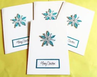 Christmas cards set, Christmas cards, holiday card set, holiday cards, Xmas cards, quilled cards, Merry Christmas cards, greeting card