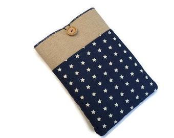 iPad Mini Case with pocket, Stars iPad Mini 4 Cover, iPad Mini Sleeve, iPad Mini 4 Case, iPad Mini Cover, iPad Mini 4 Sleeve Dark blue