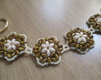 FlowerBurst SuperDuo Bracelet