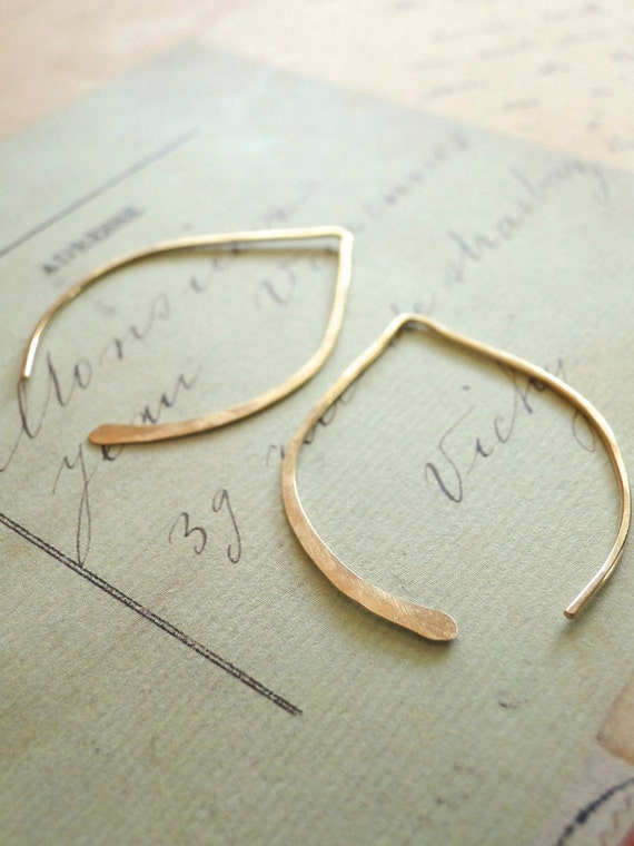 Gold Wishbone Earrings - Small Gold Filled
