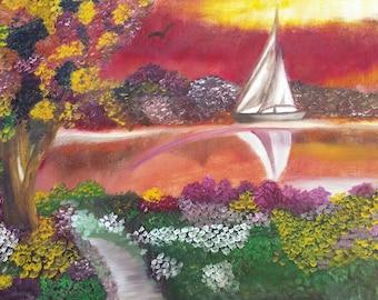 Spring Sailboat - Print