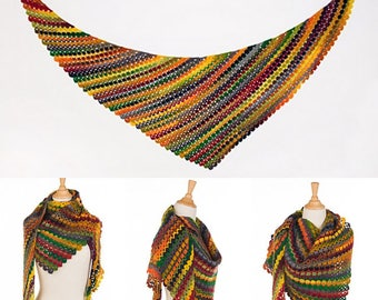 Flamme Shawl Crochet pattern