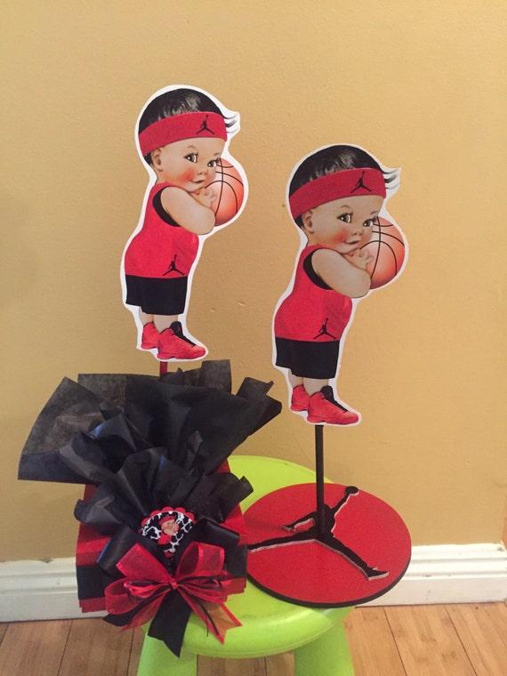 Baby Jordan Jumpman Sports Themed Baby Shower Centerpiece