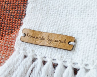Custom leather Labels, Personalized leather labels, Leather tags, Knitting leather Labels, Knitting Tags, Labels in leather